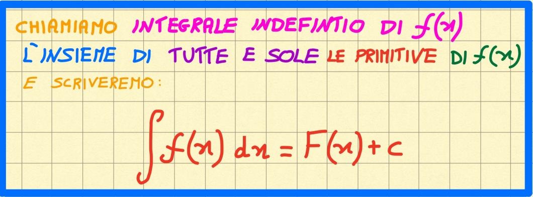 miniatura definizione di integrale indefinito